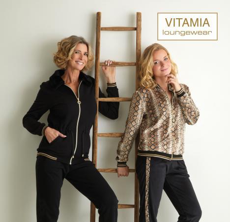 Vitamia Jogging effen met kap in bont