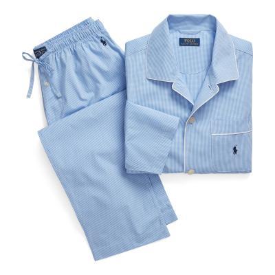 Polo Vichy woven pyjama