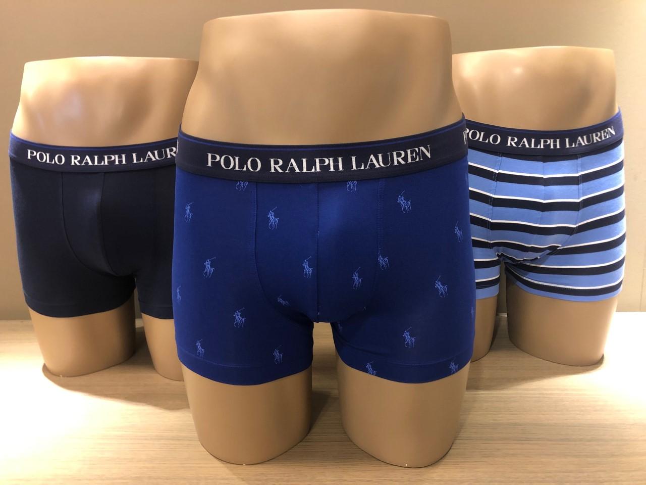 Ralph Lauren Boxers 3-Pack, effen+logo+strepen