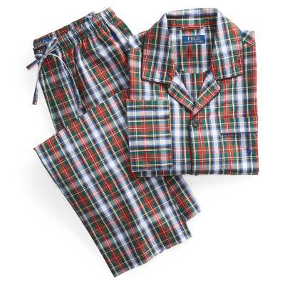 Polo woven pyjama, Geruit