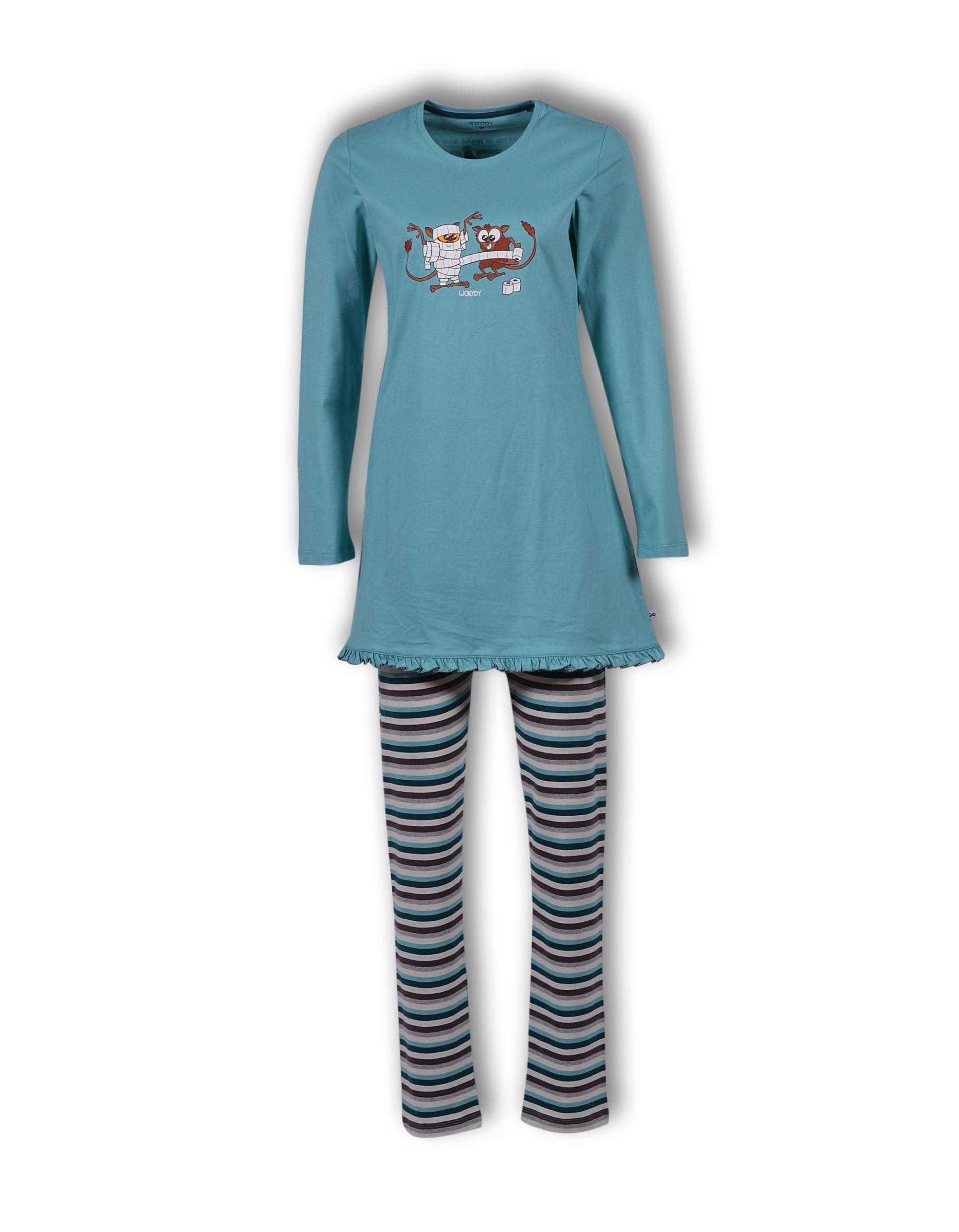 Woody Meisjes-Dames Pyjama, Tarsier