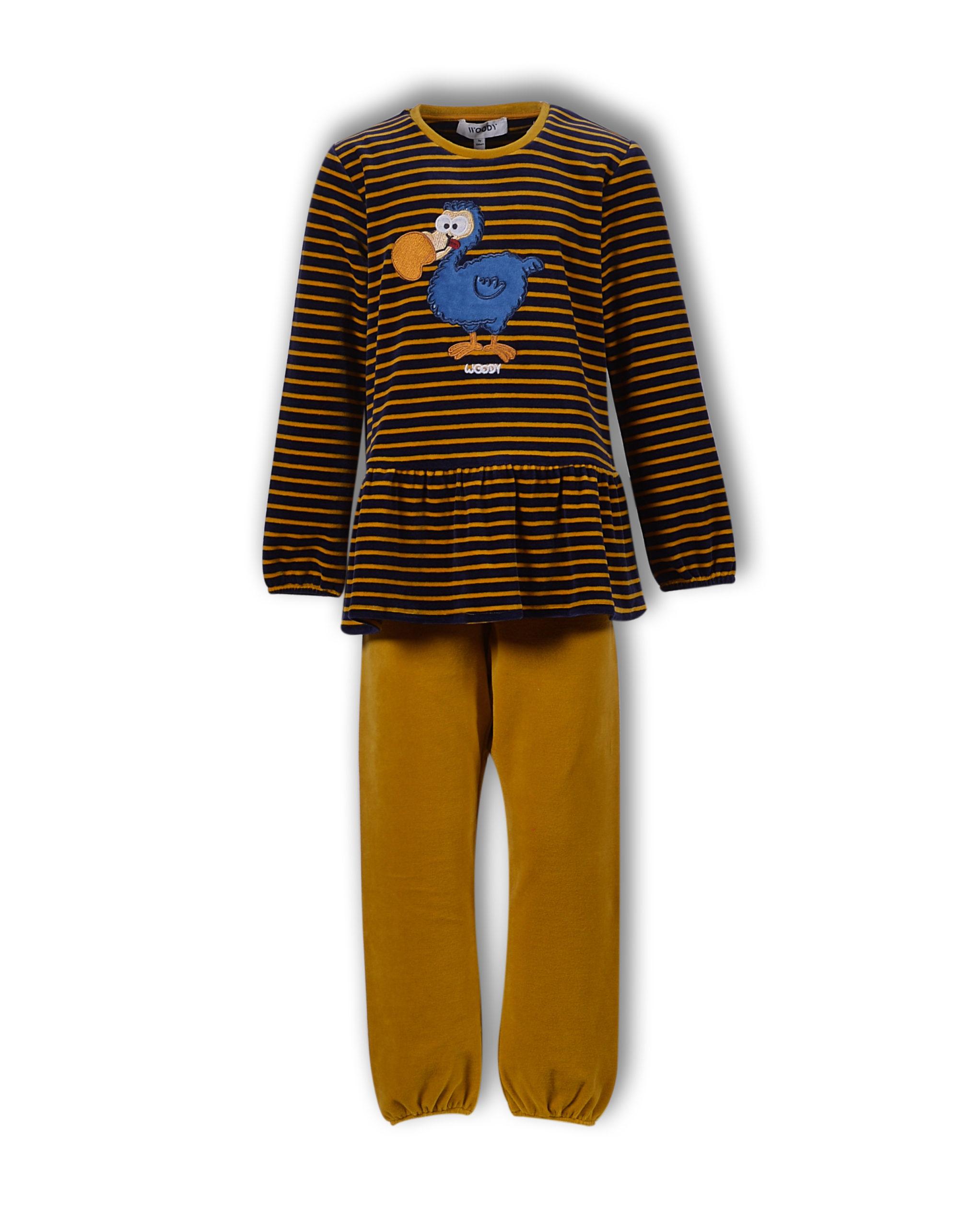 Woody Meisjes-Dames Pyjama, Dodo Gestreept