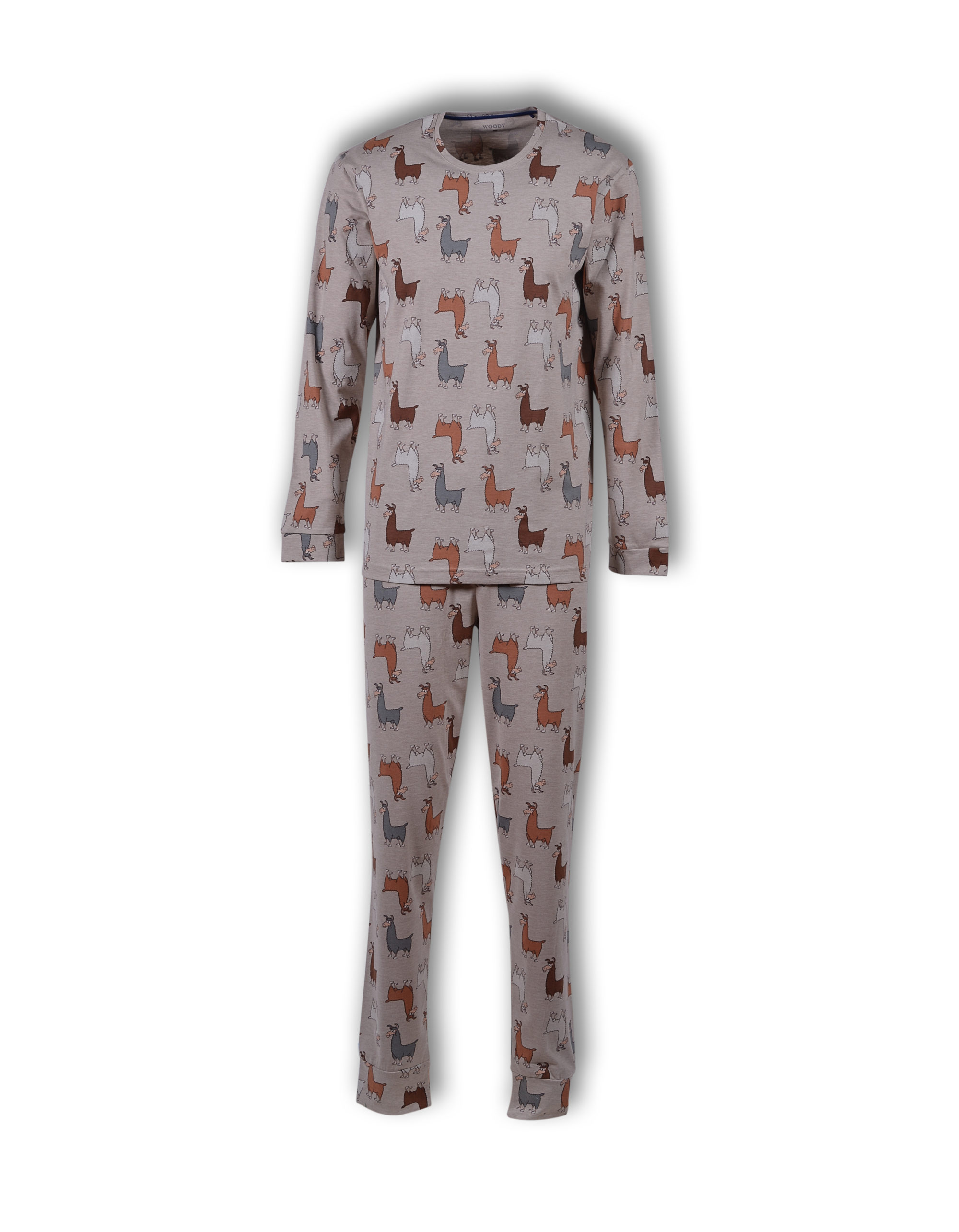 Woody Jongens-Herenpyjama, Alpaca All-Over Print
