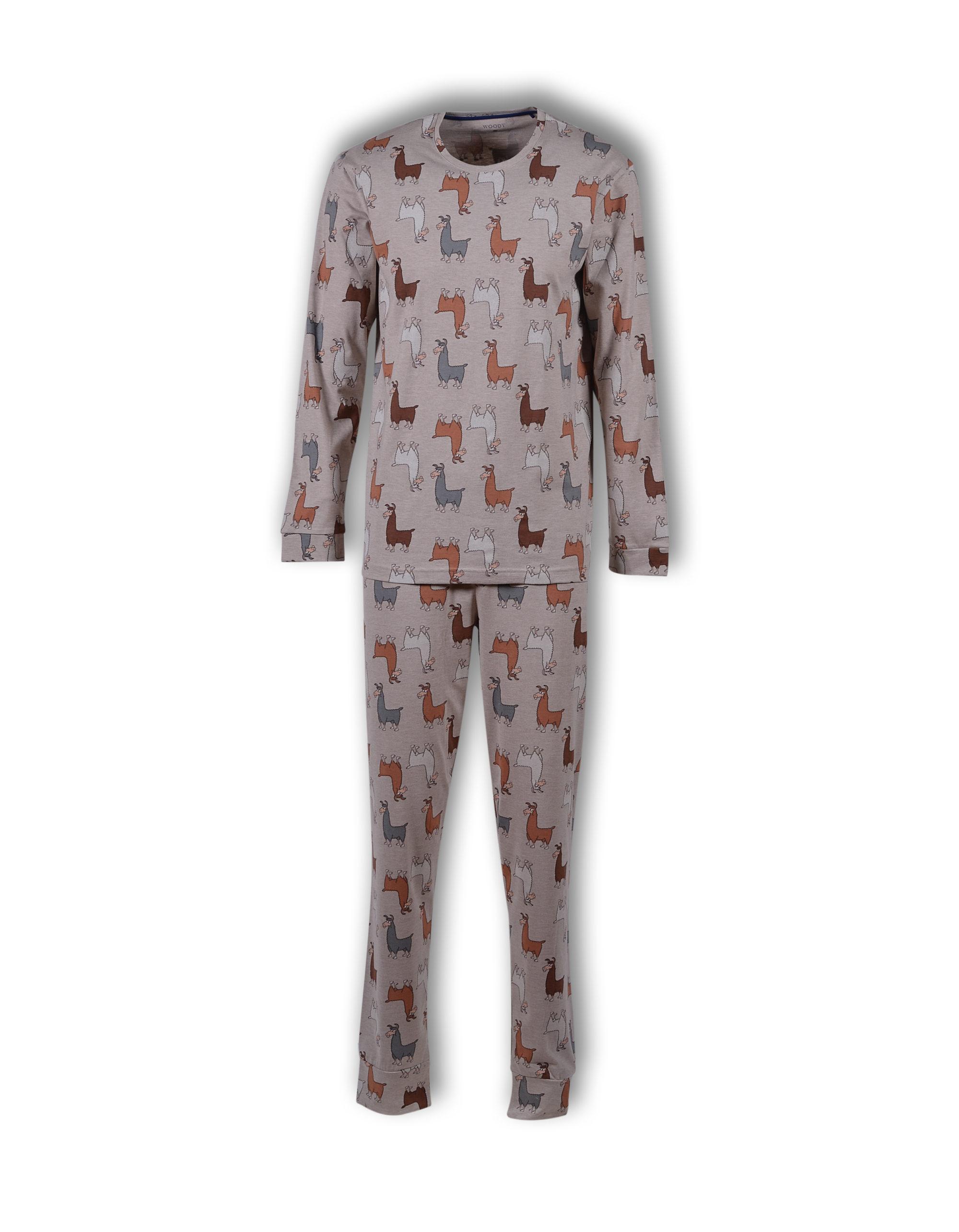 Woody Jongens-Herenpyjama, Alpaca All-Over Print
