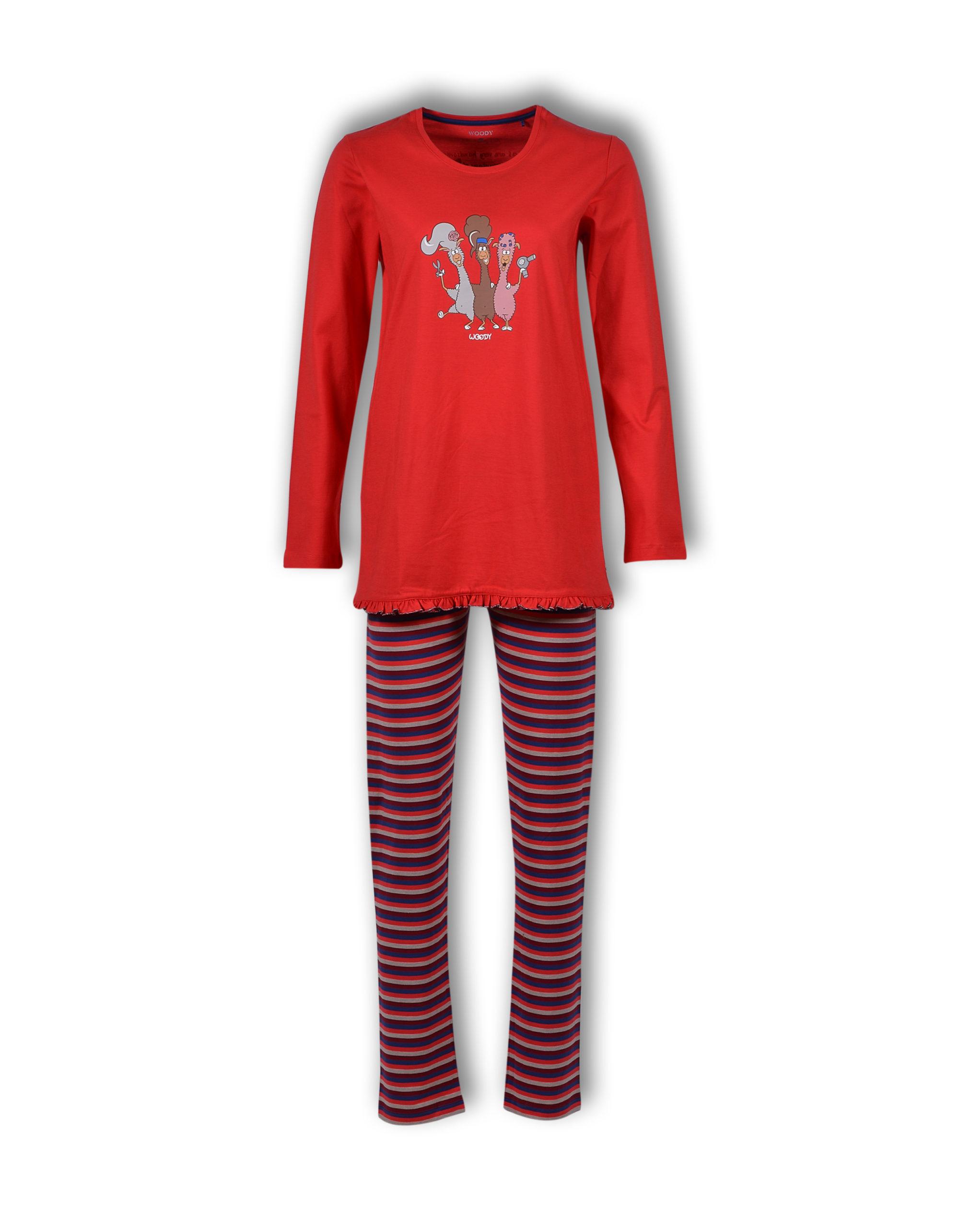 Woody Meisjes-Dames Pyjama, Alpaca