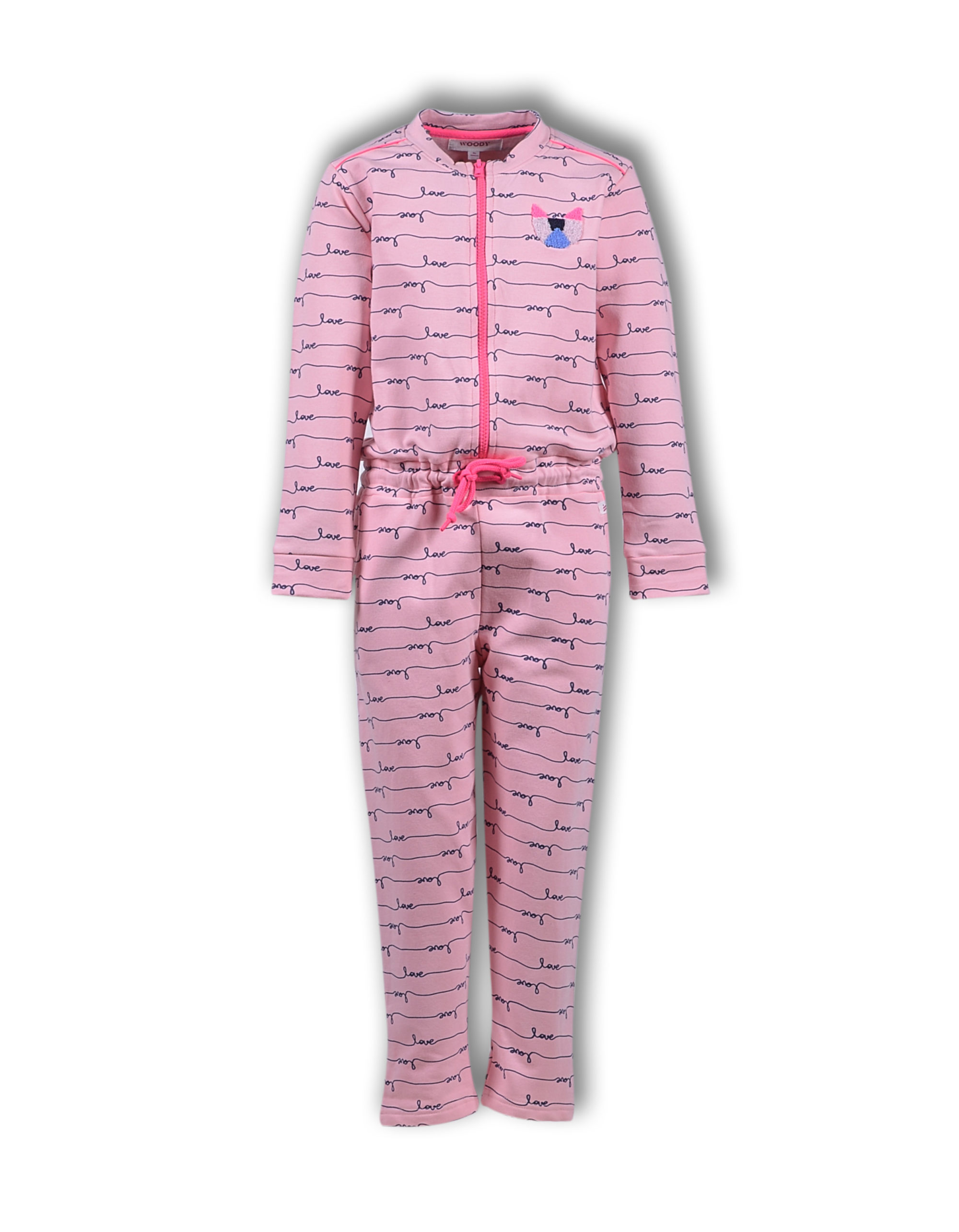 Woody Meisjes-Dames Onesie Love-All Over Print