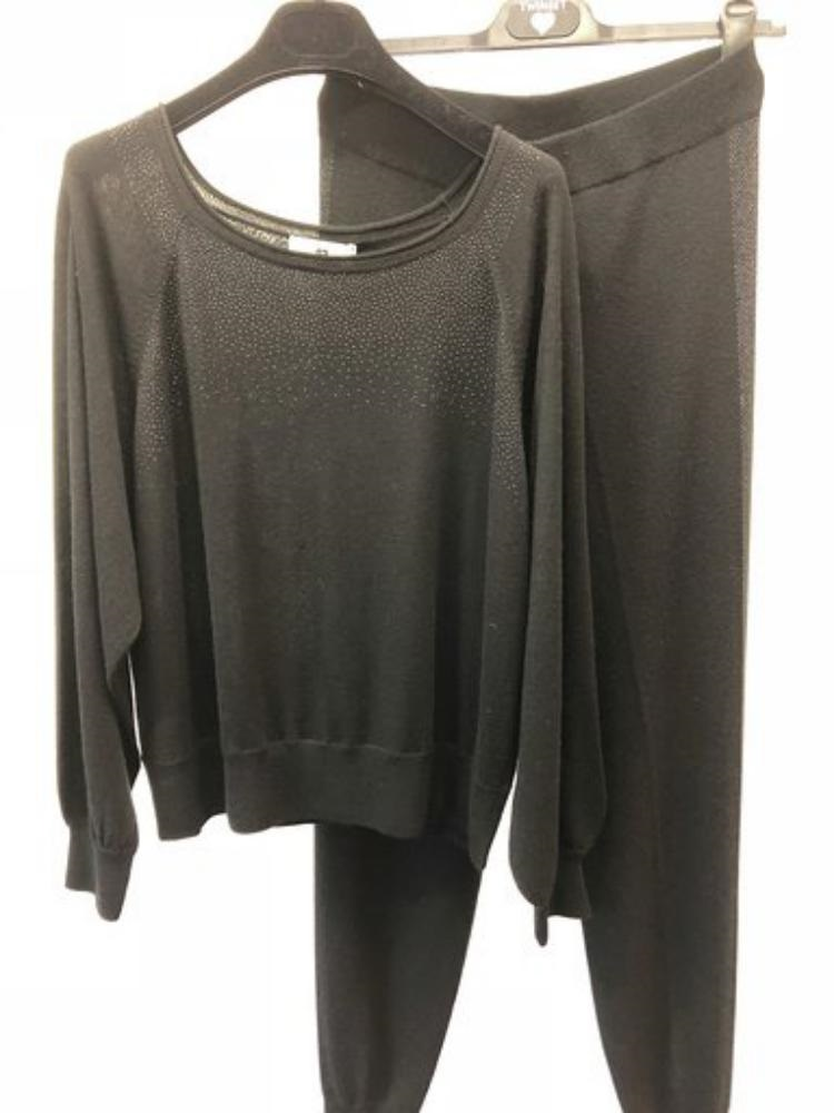 Twin-Set Sweater + broek strass