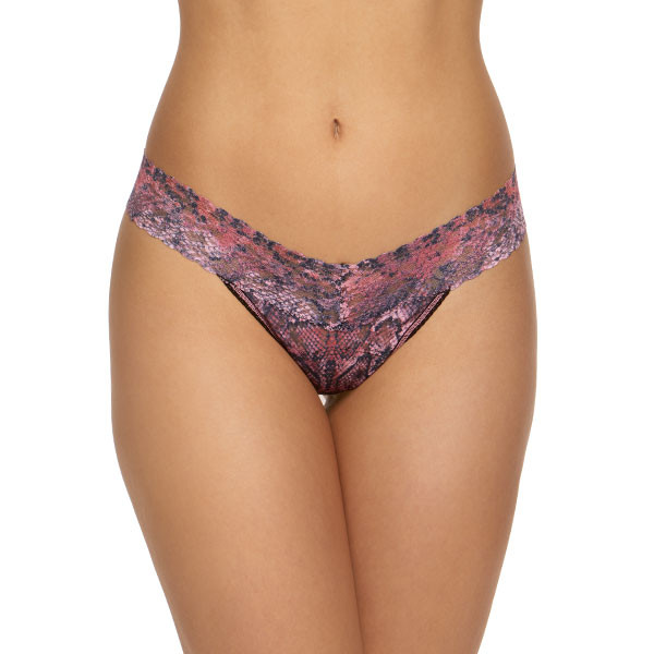 Hanky Panky Pink Python Low Rise String