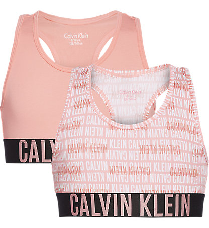 Calvin Klein 2-Pack Bralette Effen – Print Logo
