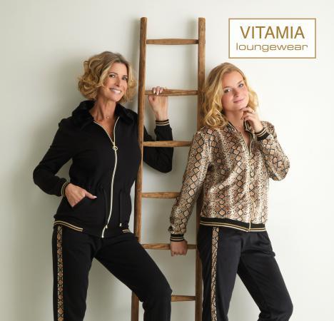 Vitamia Jogging leopard + broek zwart streep leo