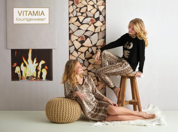 Vitamia Sweater LOVE + broek leopard
