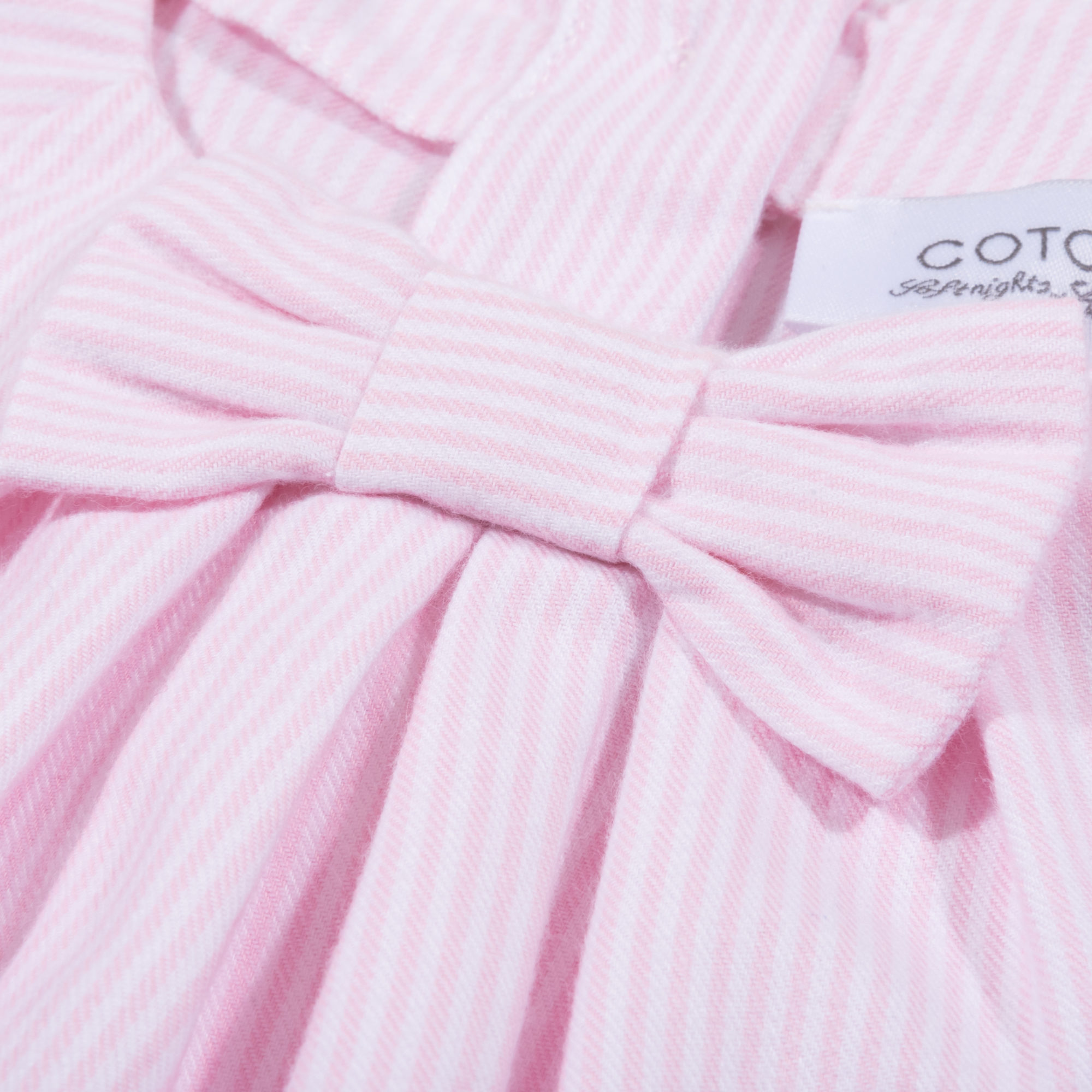 Cotolini Pyjama LM, Gestreept, Flanel, Strik