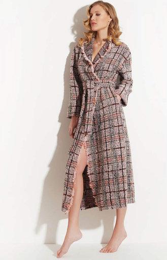 Chiara Fiorini Mantel lang tweed