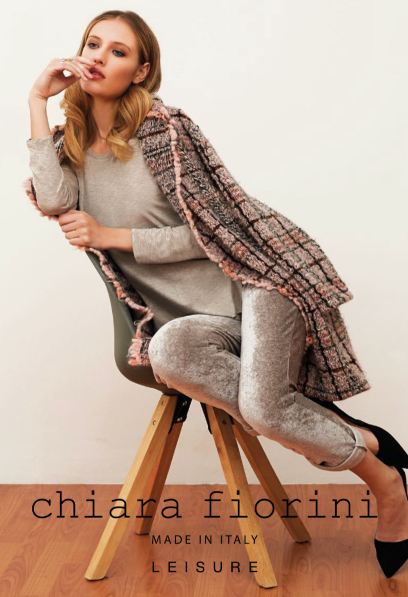 Chiara Fiorini Mantel kort tweed