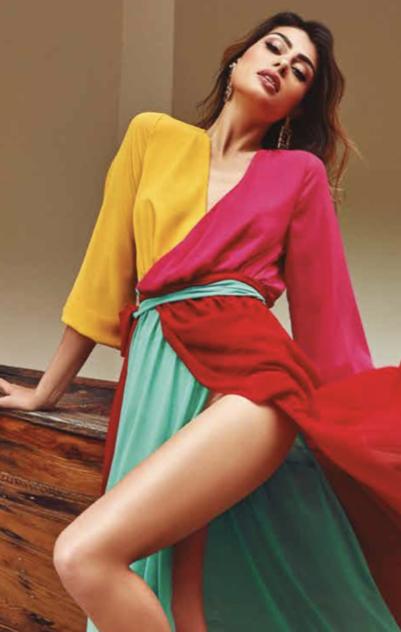 District Lang kleed kleuren