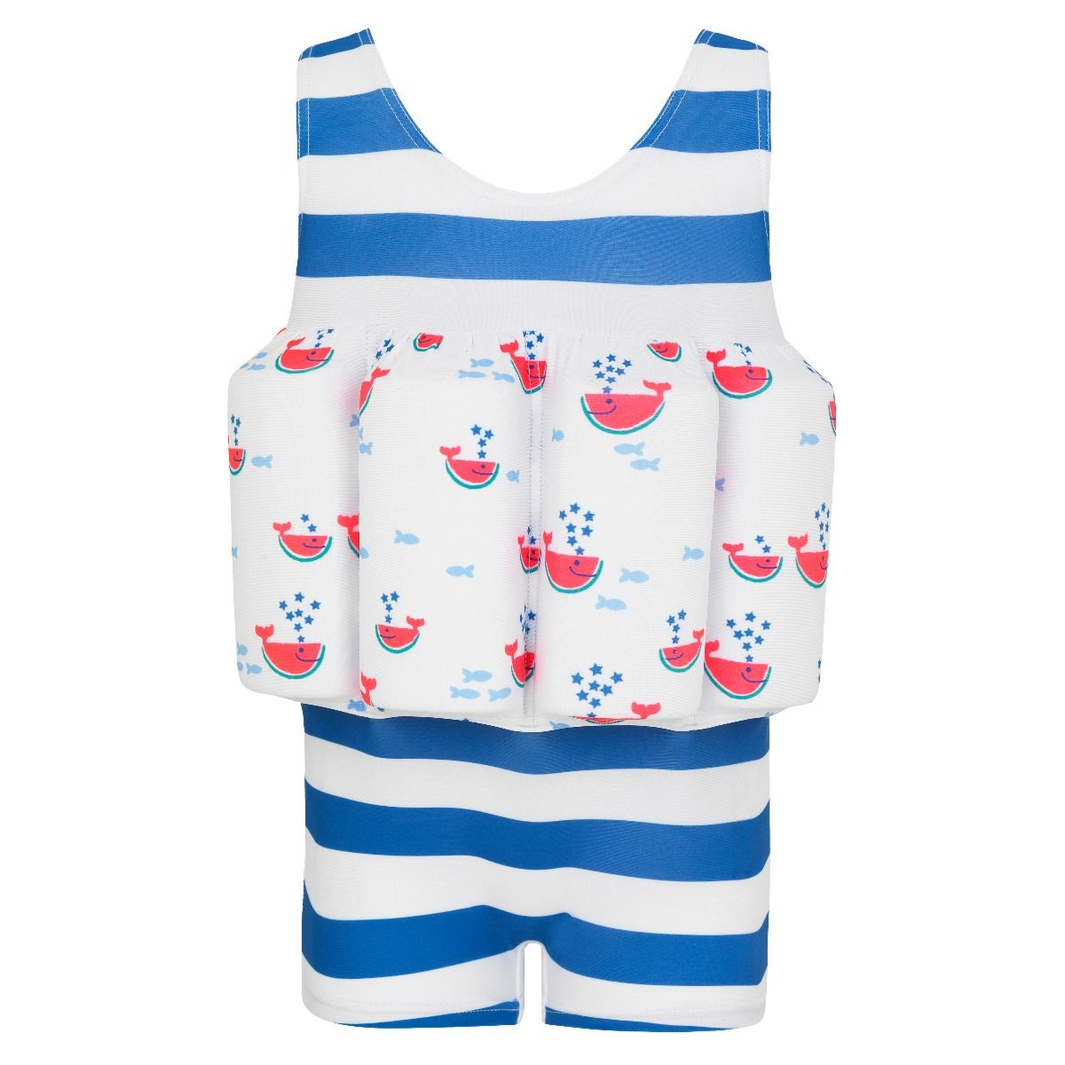 Sunuva Baby boys blue stripe watermelon floatsuit