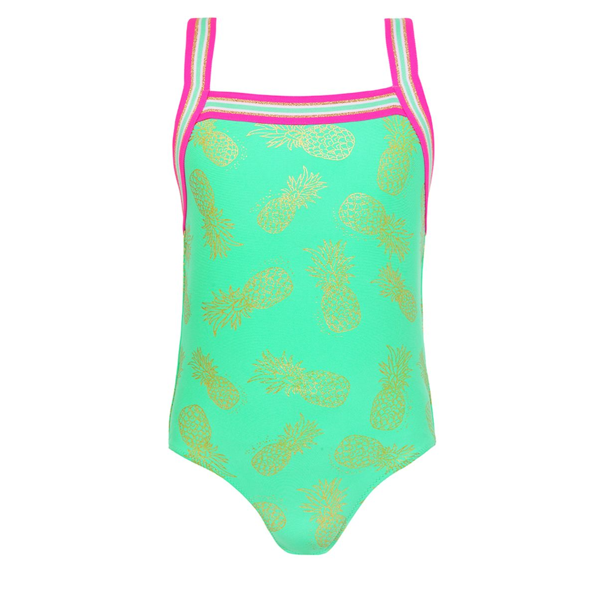 Sunuva Girls pastel green gold pineapple badpak