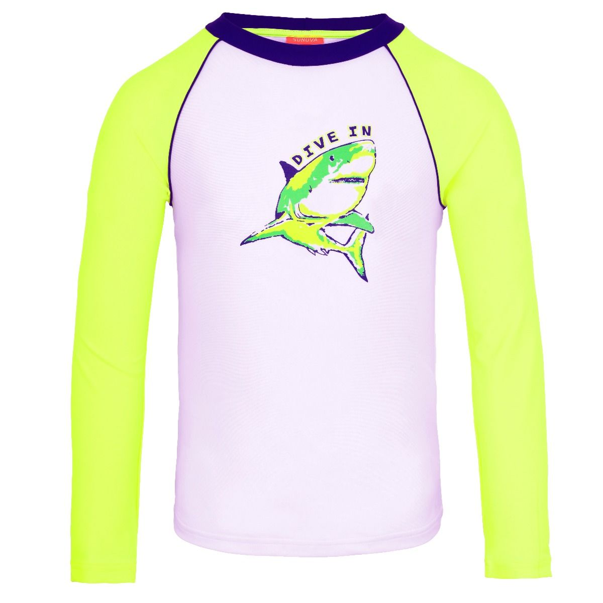 Sunuva Boys neon shark UV shirt