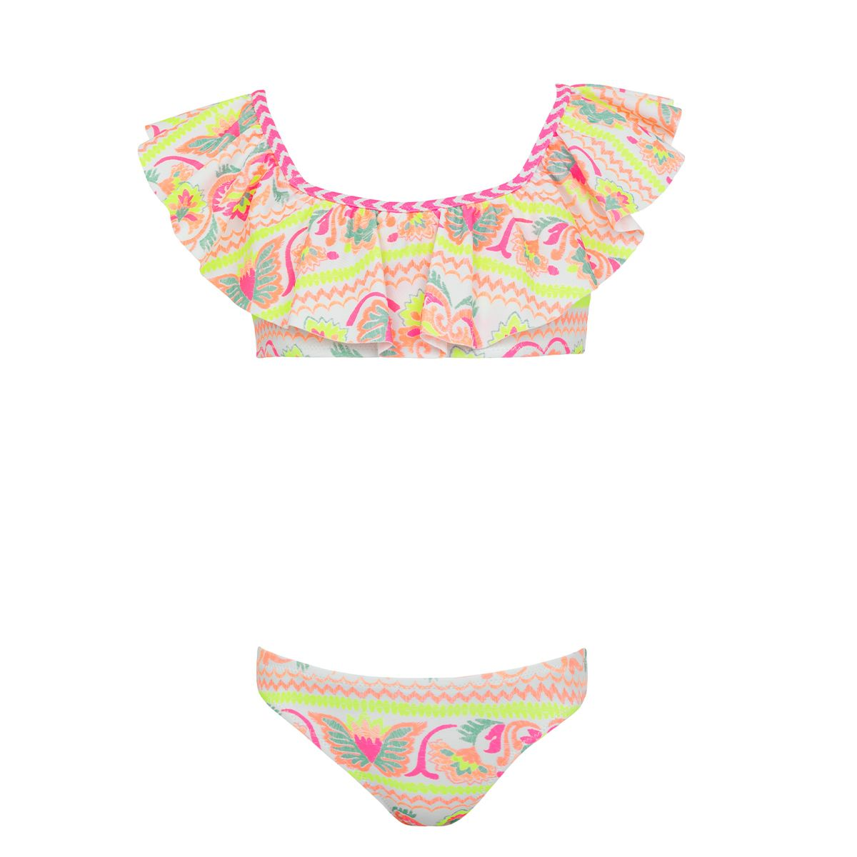 Sunuva White neon peruvian stitch bikini