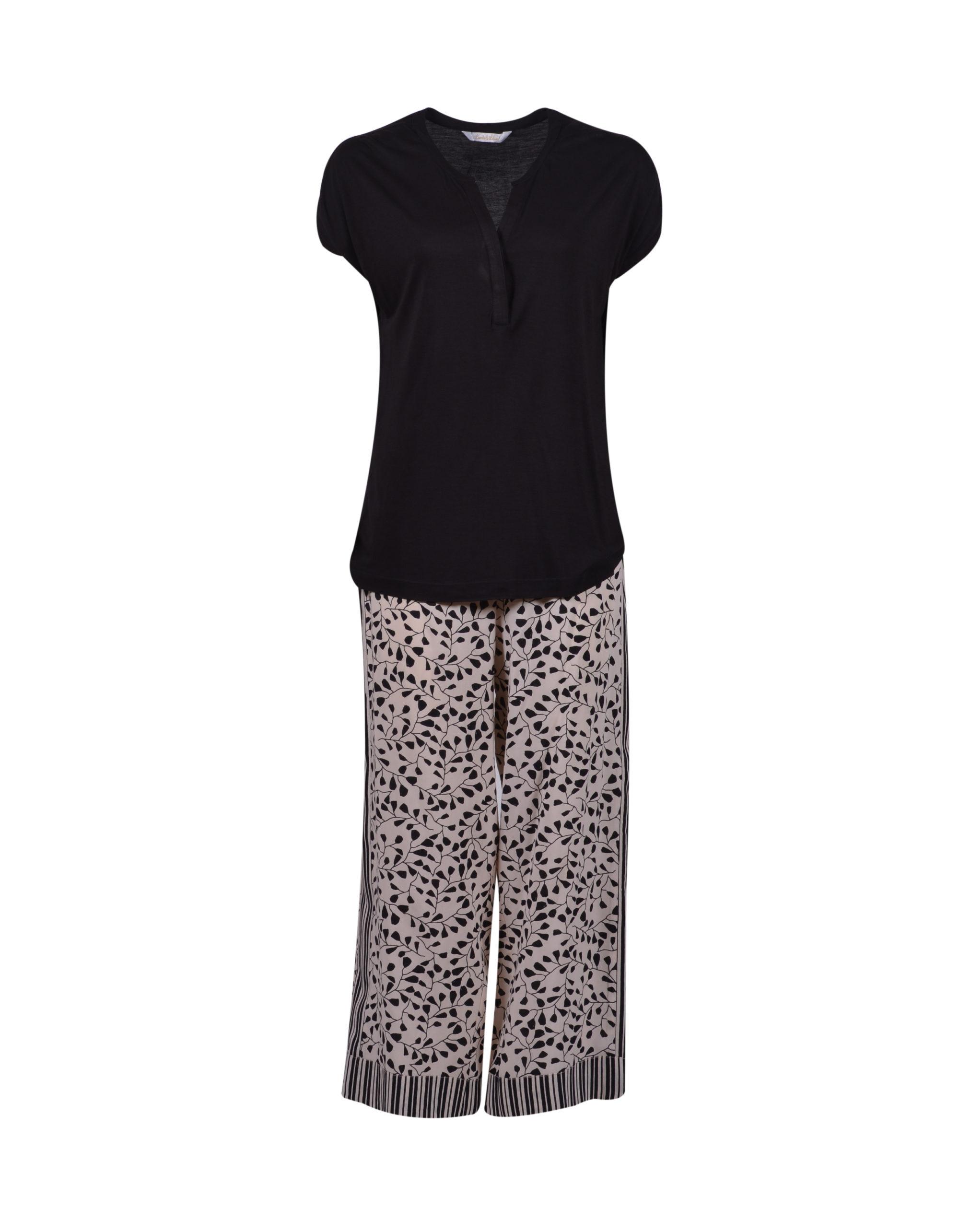 LORDS & LILIES Dames pyjama, antraciet