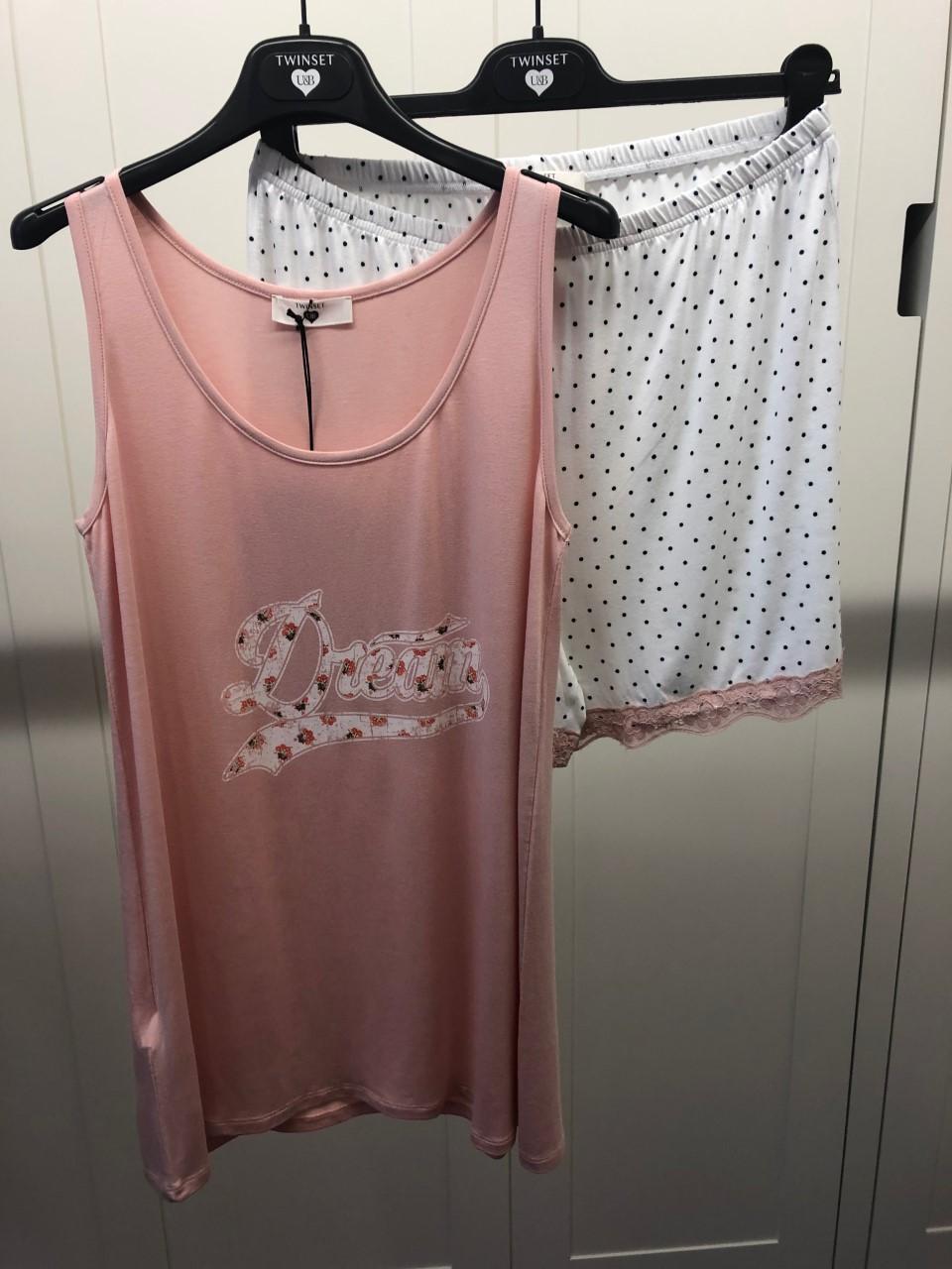 Twin-Set Damespyjama-short Dream SS20