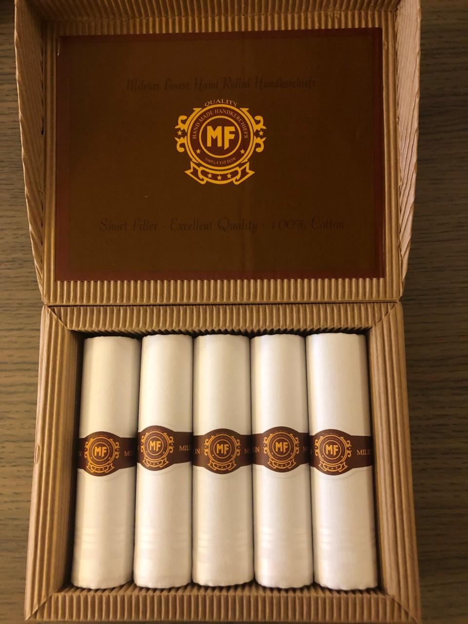 Mileta's zakdoeken heren in sigarendoos
