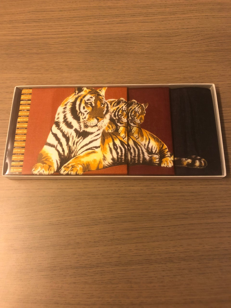 Primavera Zakdoeken dames 3-pack tijger groot