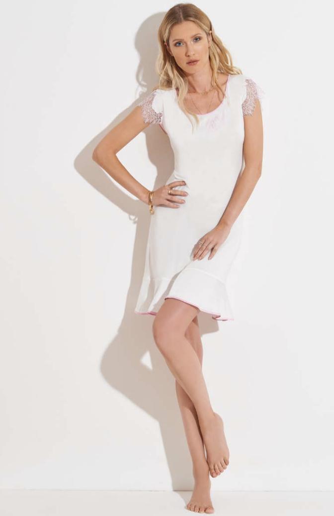 Chiara Fiorini Slaapkleed met kantje