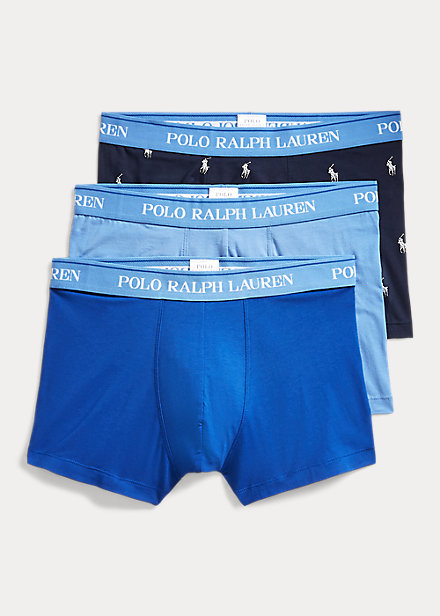 Ralph Lauren Trunk Stretch Cotton 3-Pack, logo