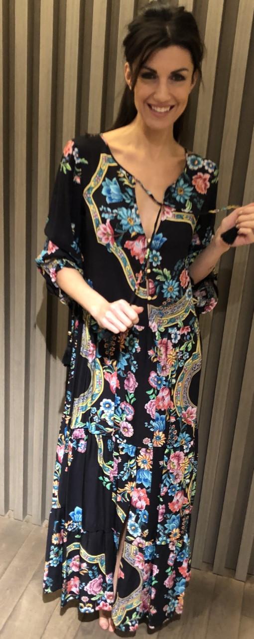 Raffaela d'Angelo Bloemenprint lang kleed