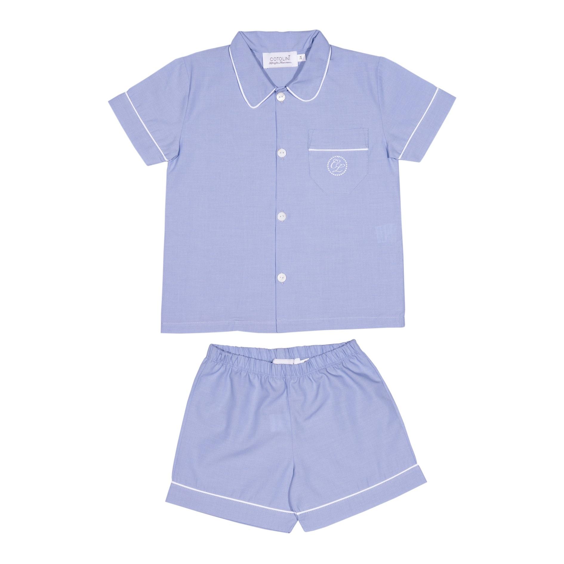 Cotolini Arthur jongenspyjama-short geweven katoen