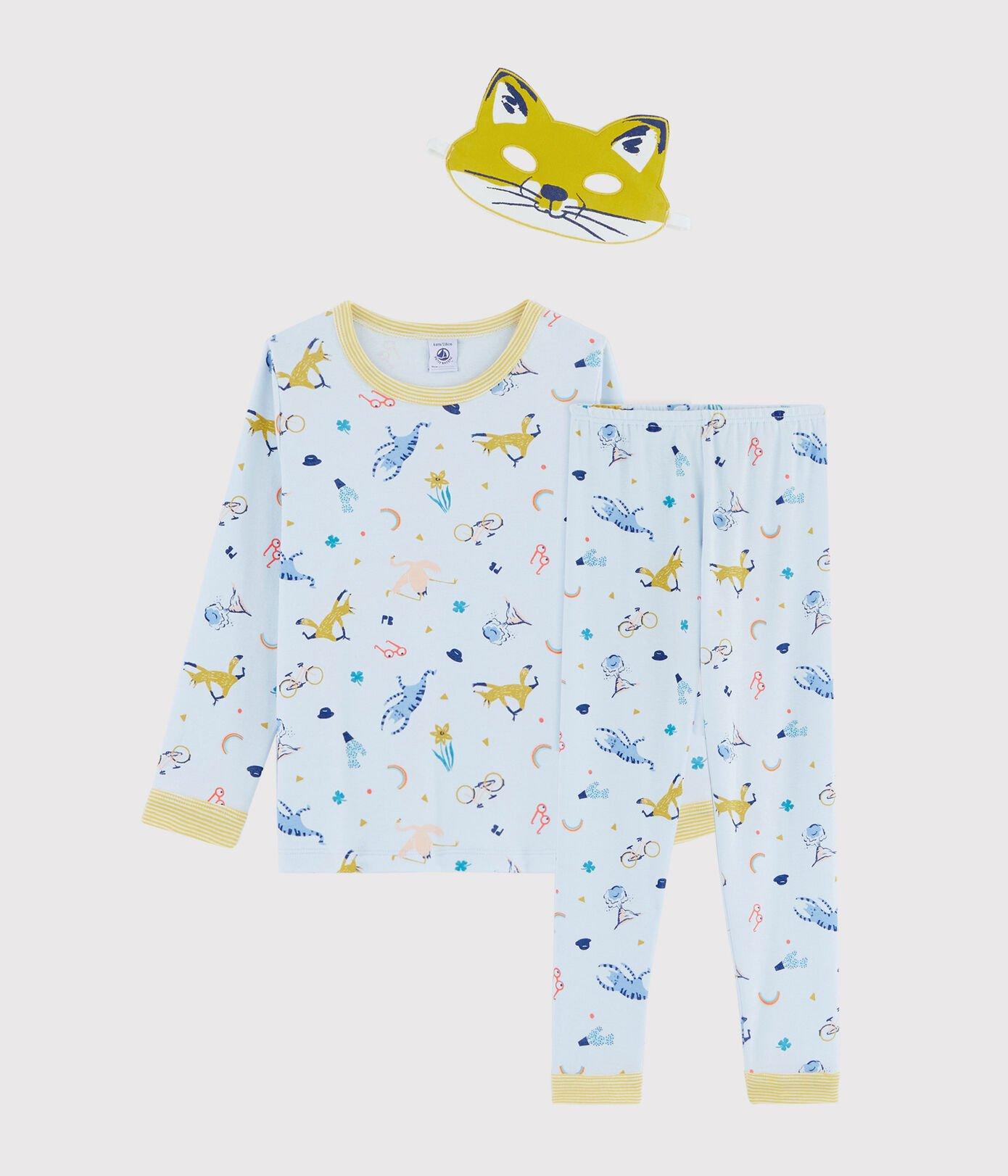 Petit Bateau Pyjama + masker jongens