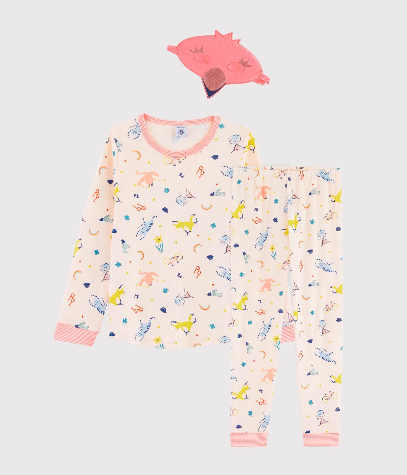 Petit Bateau Pyjama + masker meisjes