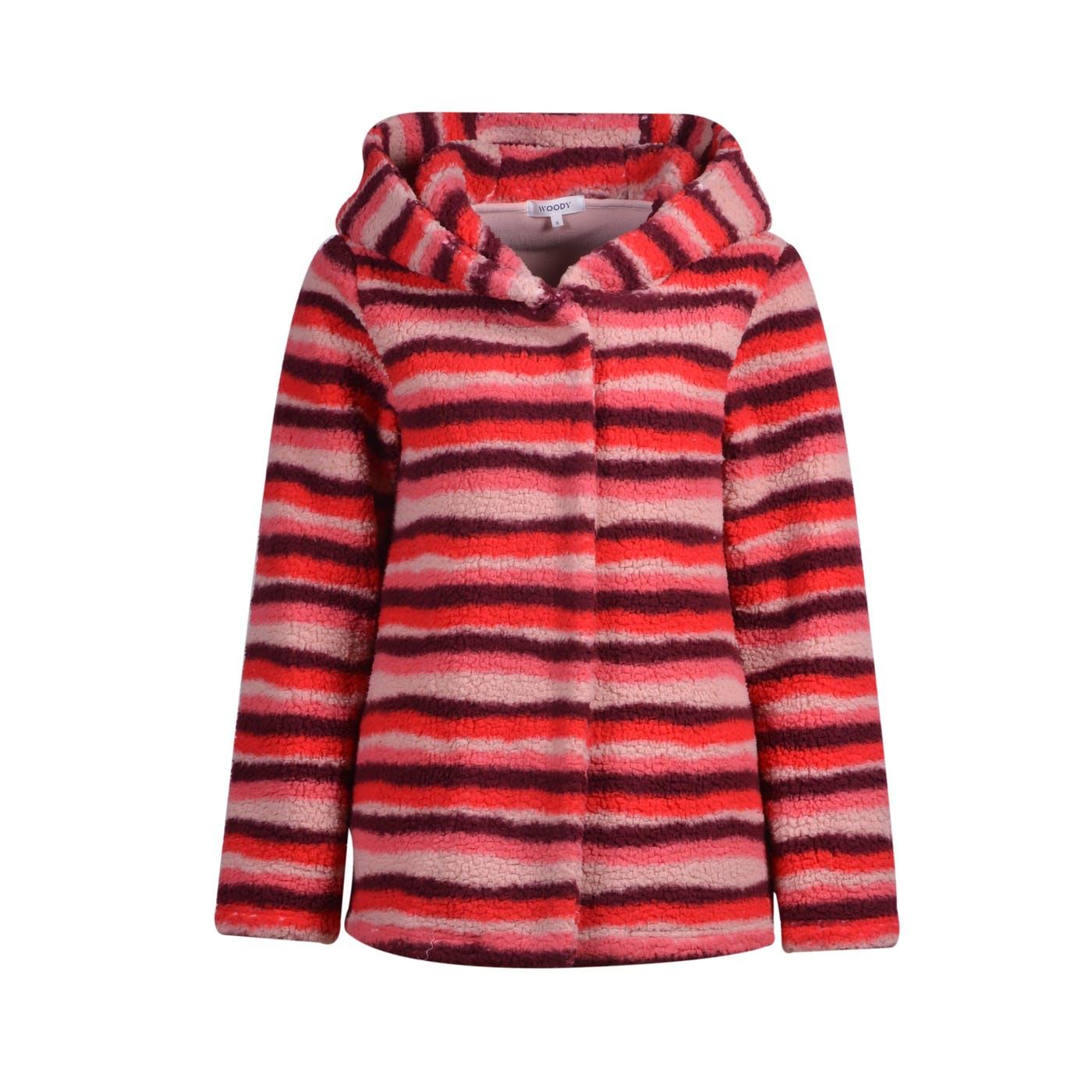 Woody Meisjes-Dames jas, roze