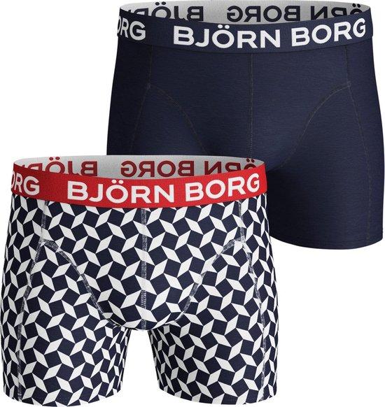 Björn Borg Boxer Heren 2-Pack Print-Effen