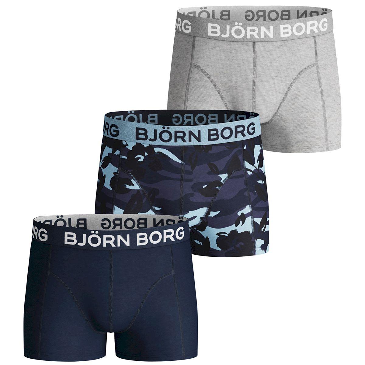 Björn Borg Boxer Jongen 3-Pack Effen-Camouflage