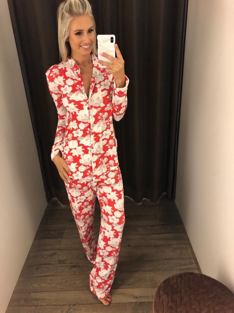 Paladini Lucca Pyjama Doorknoop Bloemen