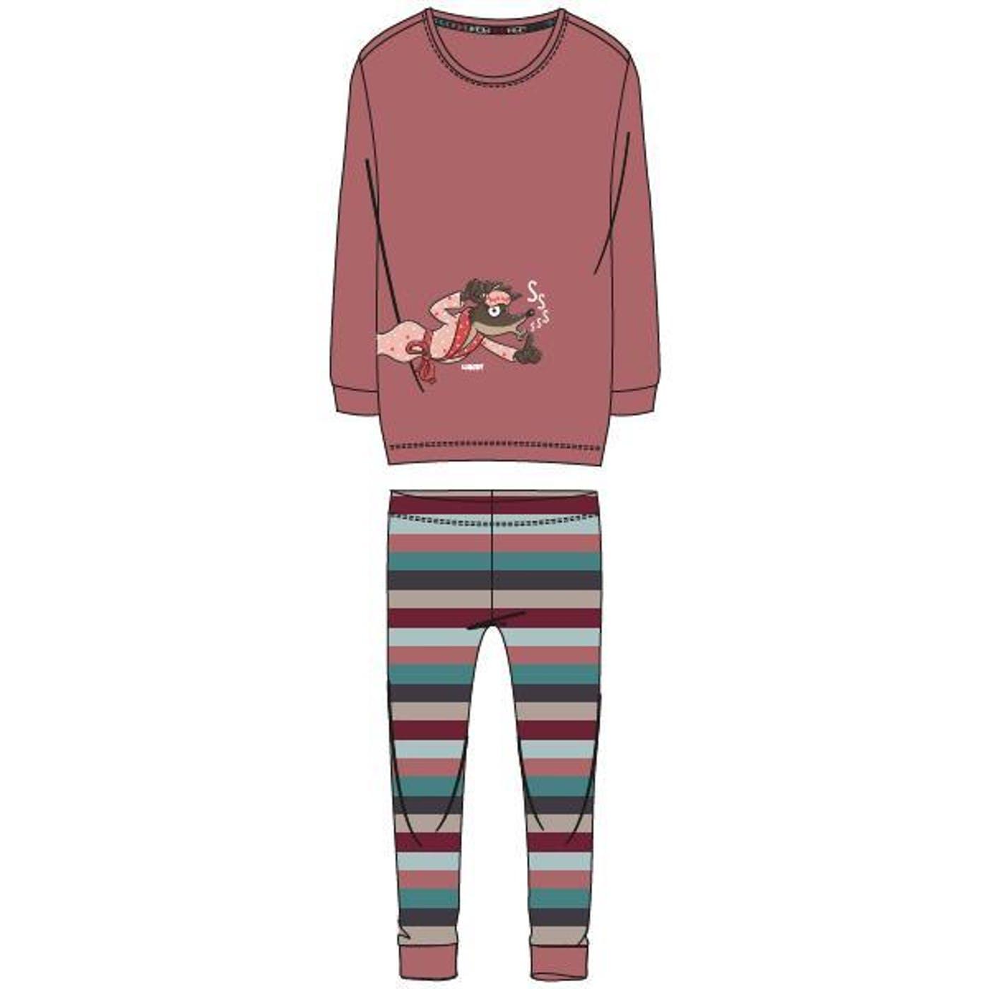 Woody Meisjes-Dames pyjama, Thema Wolf