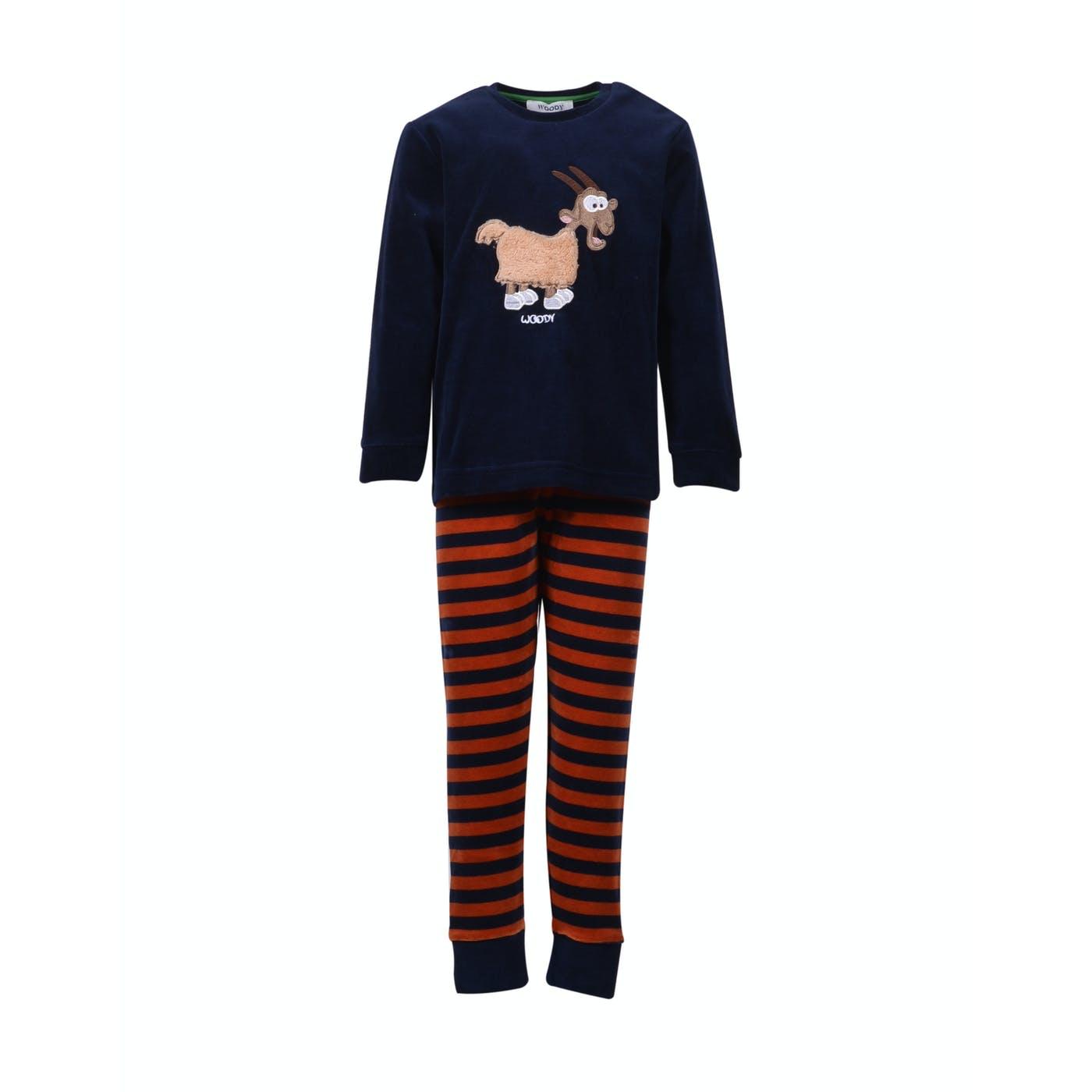 Woody Jongens-Heren pyjama, thema geit