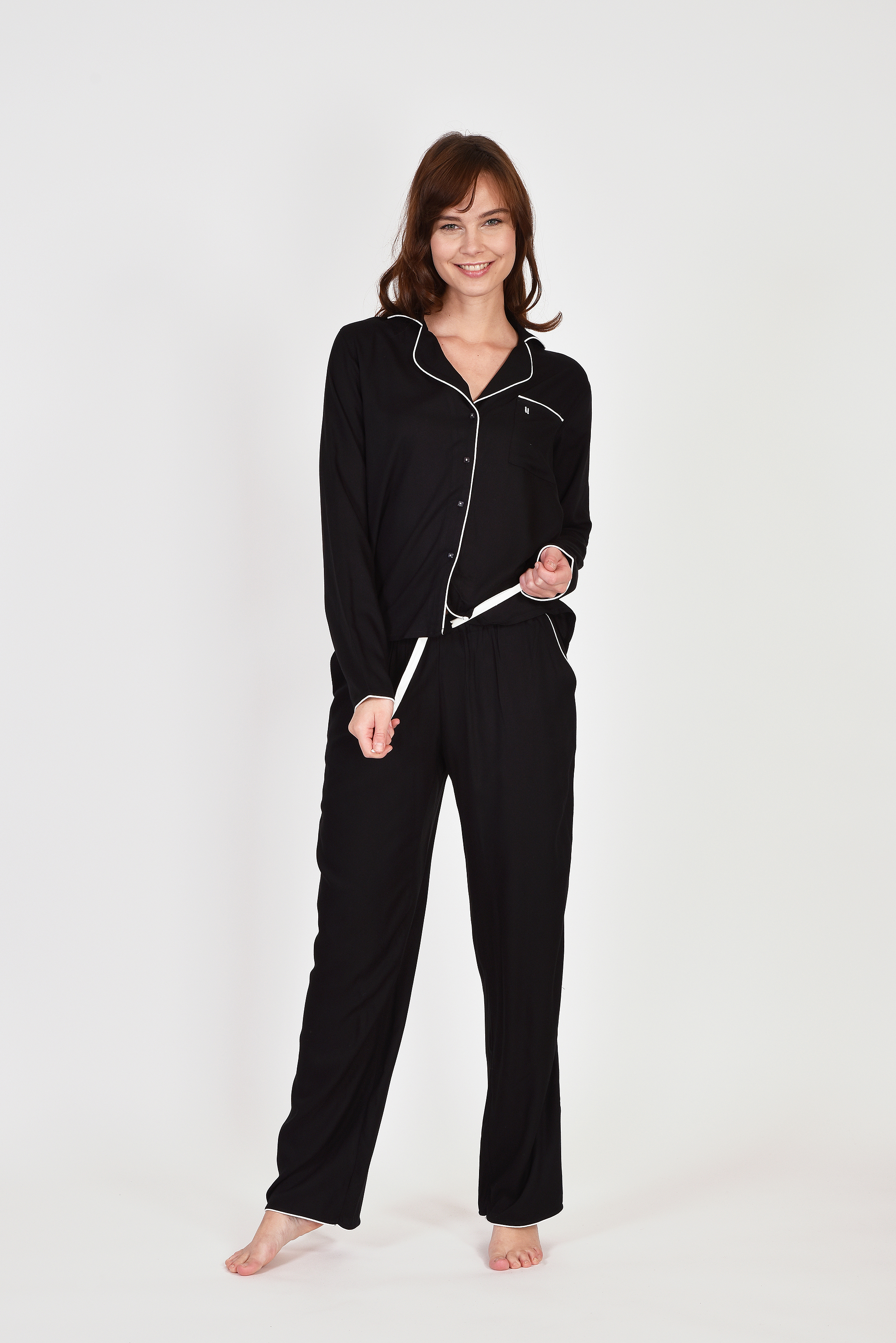 LORDS & LILIES Dames pyjama, Doorknoop
