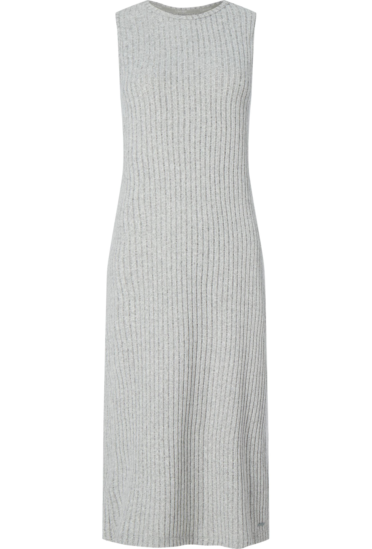 Calvin Klein Lang Kleed, Zonder Mouw, Geribbeld
