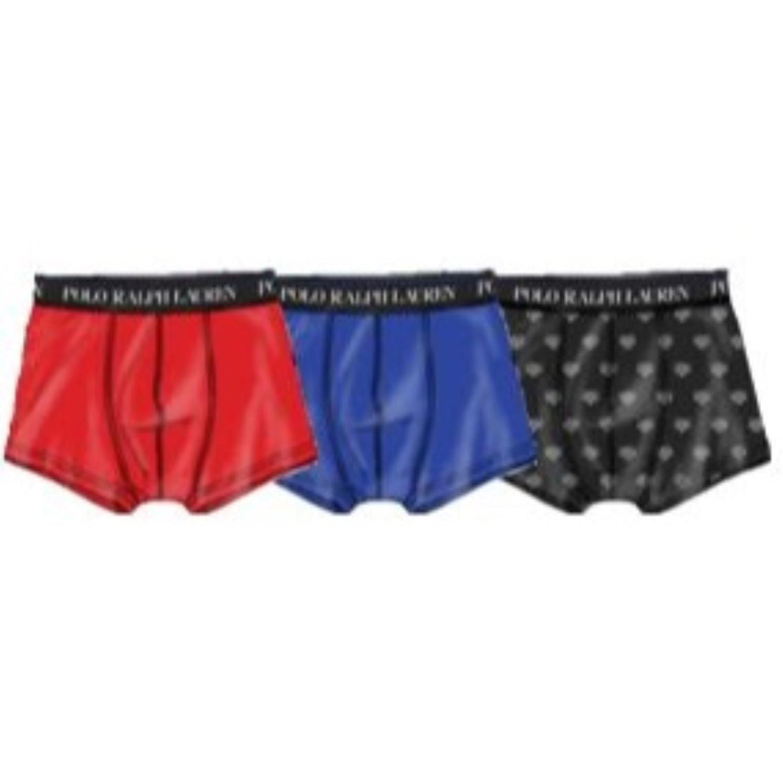 Ralph Lauren Boxer Heren 3-Pack Effen