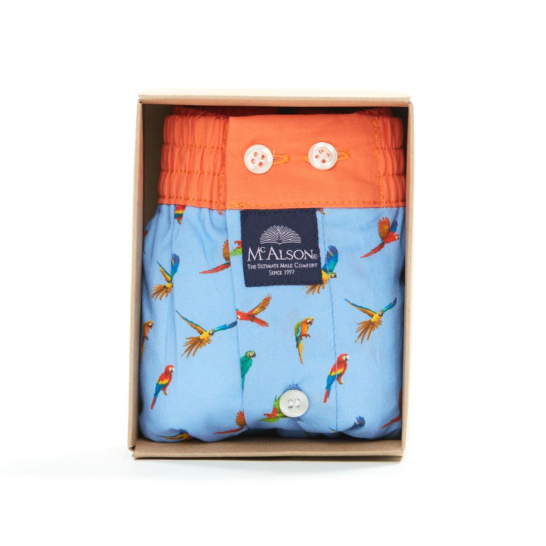 Mc Alson Boxer Heren papegaaien blauw-oranje
