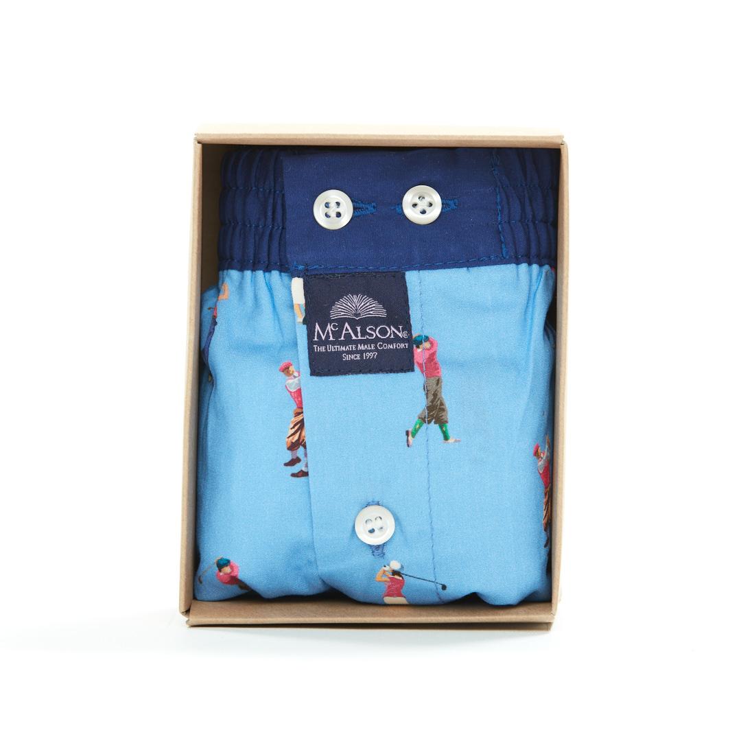Mc Alson Boxer Heren golf blauw