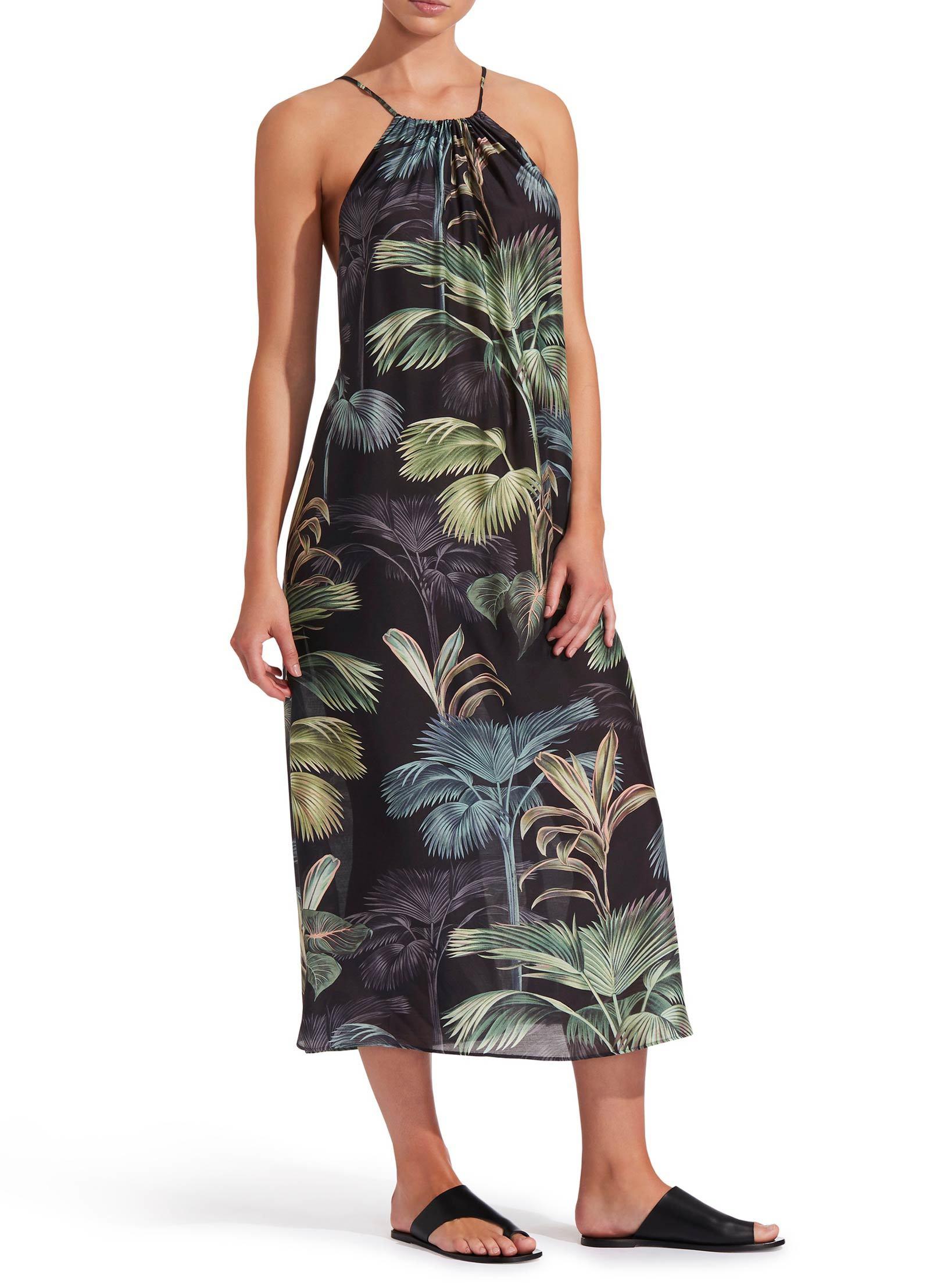 Jets Lang Kleed Print Palm