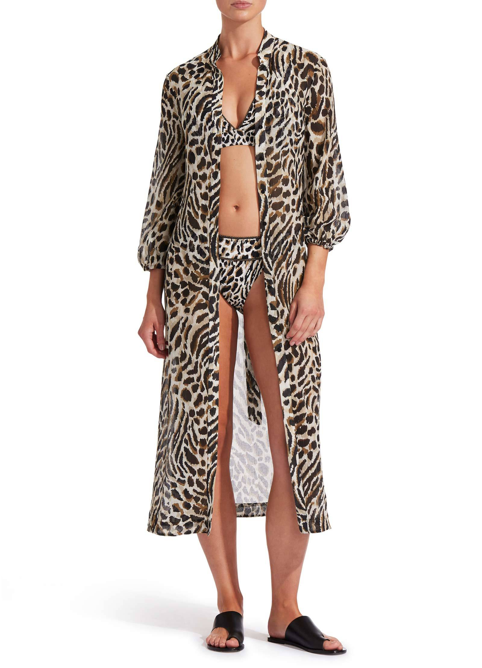 Jets Prowess Maxi Dress, Leopard