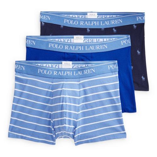 Ralph Lauren Boxer Heren 3-Pack Logo-Streep-Effen