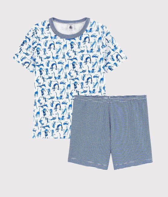 Petit Bateau T-Shirt Katten, Short Gestreept