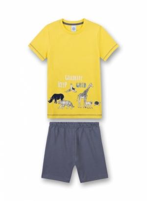 """Sanetta Pyjama """"Wildlife Keep Wild"""""""" Effen Short"""