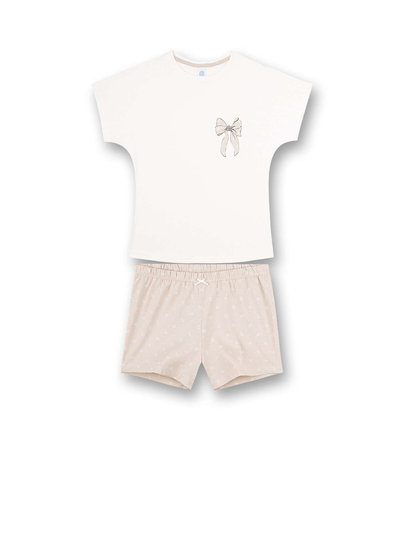 Sanetta Pyjama T-Shirt Strik + Short